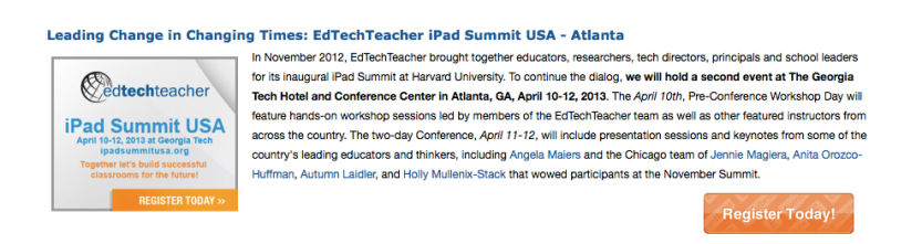 Presenting at the IPAD Summit at Georgia Tech April 11th and 12th 2013