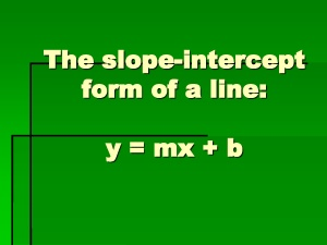 slope intercept