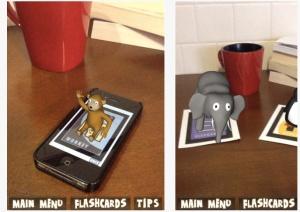 AR flashcards two